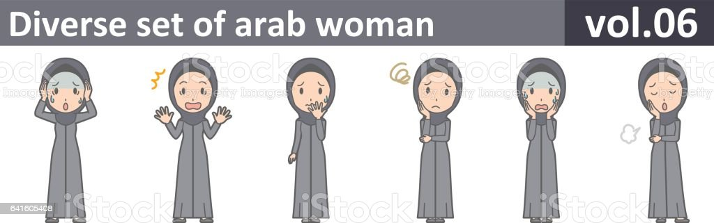 Diverse set of arab woman, EPS10 vol.06 vector art illustration