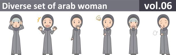 Diverse set of arab woman, EPS10 vol.06 vector art illustration