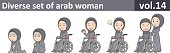 Diverse set of arab woman, EPS10 vol.14