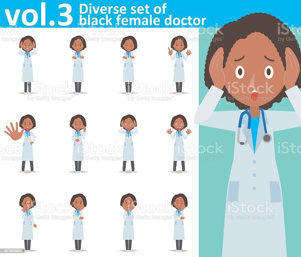 Diverse set of black female doctor  , EPS10 vector format vol.3 diverse set of black female doctor eps10 vector format vol3 – cliparts vectoriels et plus d'images de adulte libre de droits