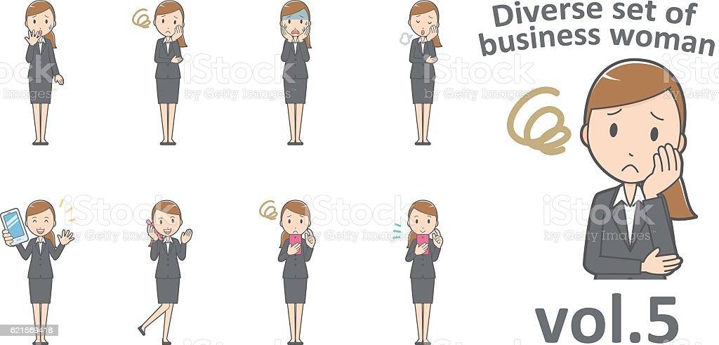 Diverse set of business woman , EPS10 vector format vol.5 diverse set of business woman eps10 vector format vol5 – cliparts vectoriels et plus d'images de adulte libre de droits