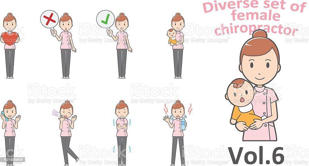 Diverse set of business woman , EPS10 vector format vol.6 Lizenzfreies diverse set of business woman eps10 vector format vol6 stock vektor art und mehr bilder von arzt