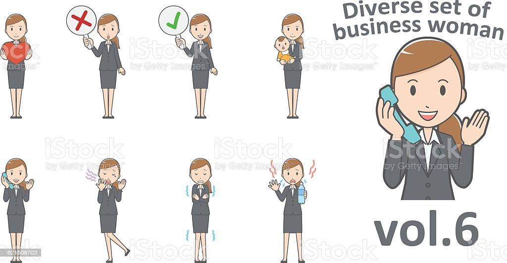 Diverse set of business woman , EPS10 vector format vol.6 diverse set of business woman eps10 vector format vol6 – cliparts vectoriels et plus d'images de adulte libre de droits