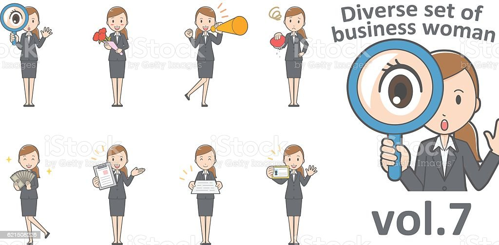Diverse set of business woman , EPS10 vector format vol.8 diverse set of business woman eps10 vector format vol8 - immagini vettoriali stock e altre immagini di adulto royalty-free