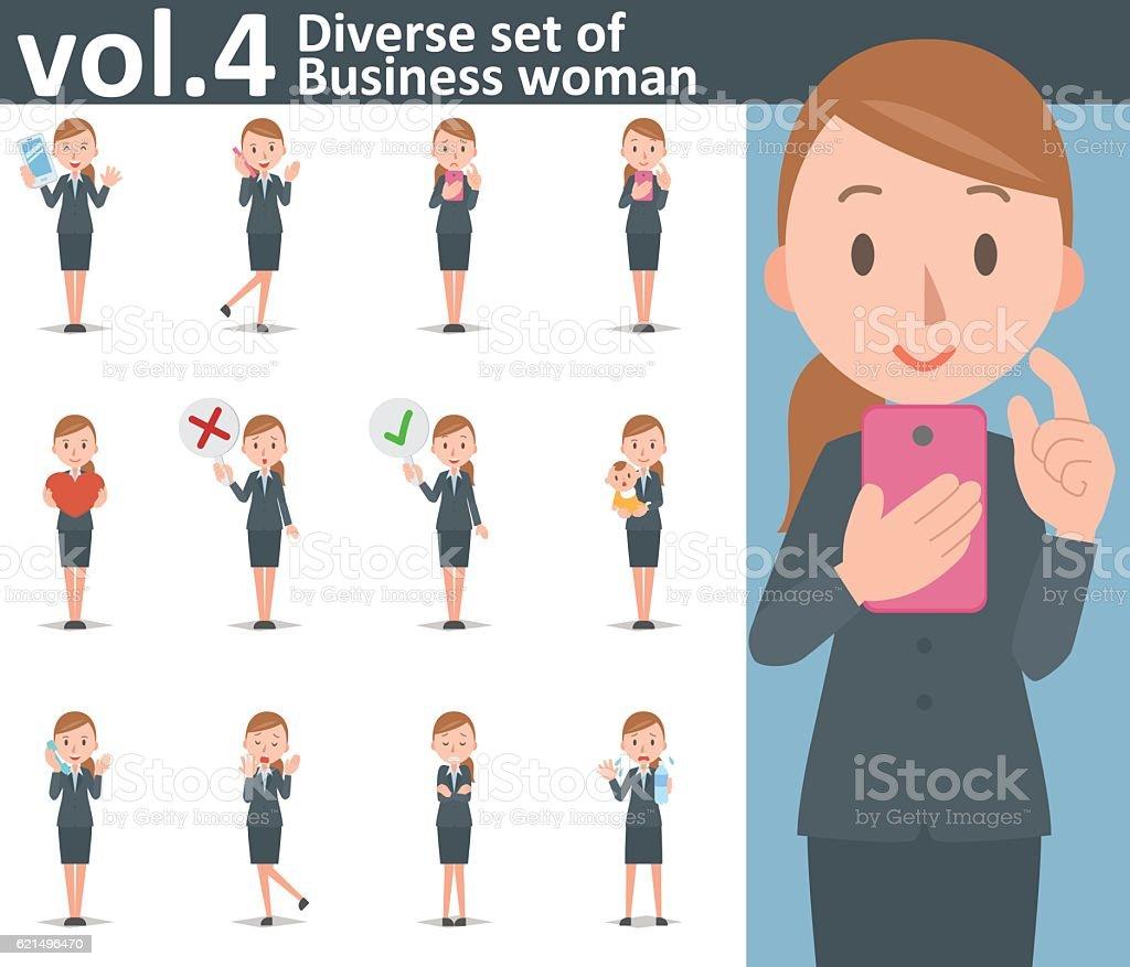Diverse set of business woman on white background vol.4 diverse set of business woman on white background vol4 – cliparts vectoriels et plus d'images de adulte libre de droits