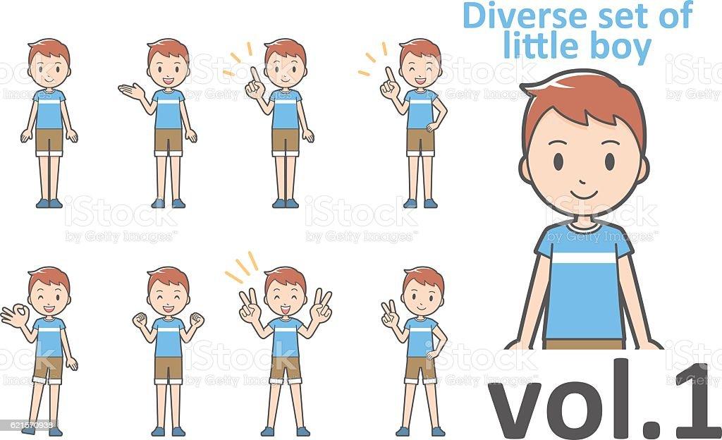 Diverse set of little boy , EPS10 vector format vol.1 diverse set of little boy eps10 vector format vol1 – cliparts vectoriels et plus d'images de de petite taille libre de droits
