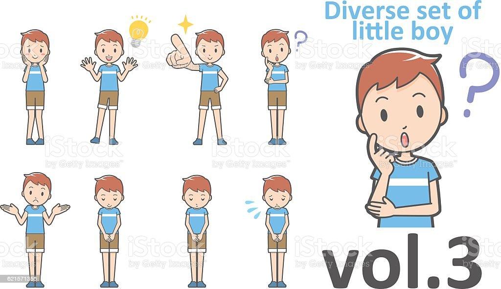 Diverse set of little boy , EPS10 vector format vol.3 diverse set of little boy eps10 vector format vol3 – cliparts vectoriels et plus d'images de de petite taille libre de droits