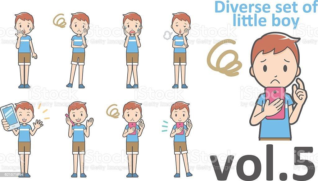 Diverse set of little boy , EPS10 vector format vol.5 diverse set of little boy eps10 vector format vol5 – cliparts vectoriels et plus d'images de de petite taille libre de droits