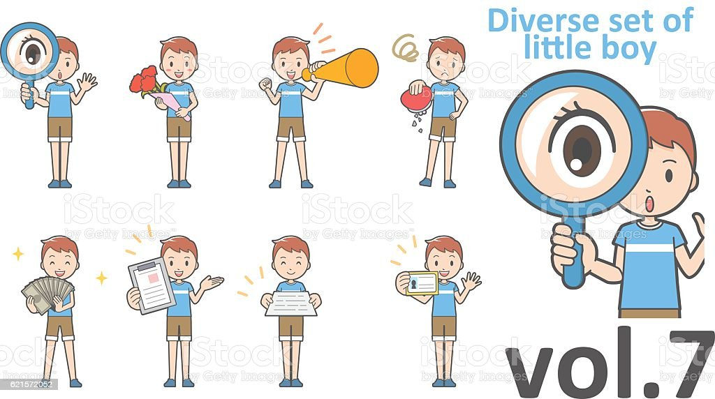 Diverse set of little boy , EPS10 vector format vol.7 diverse set of little boy eps10 vector format vol7 – cliparts vectoriels et plus d'images de de petite taille libre de droits