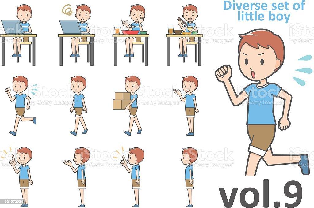 Diverse set of little boy , EPS10 vector format vol.9 diverse set of little boy eps10 vector format vol9 – cliparts vectoriels et plus d'images de de petite taille libre de droits