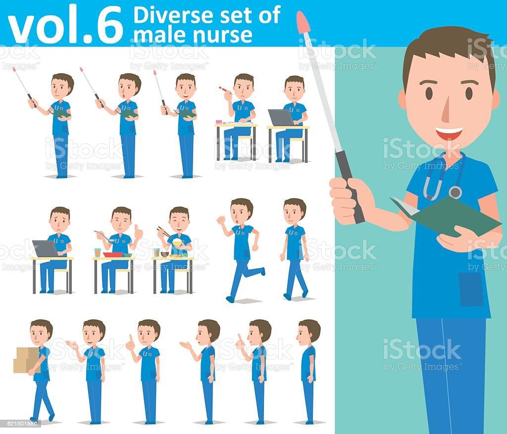 Diverse set of male nurse  , EPS10 vector format vol.6 diverse set of male nurse eps10 vector format vol6 – cliparts vectoriels et plus d'images de adulte libre de droits