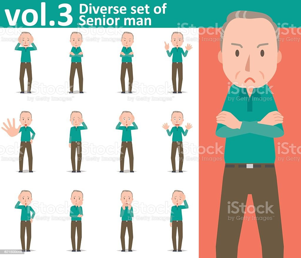Diverse set of Senior man , EPS10 vector format vol.3 Lizenzfreies diverse set of senior man eps10 vector format vol3 stock vektor art und mehr bilder von alter erwachsener
