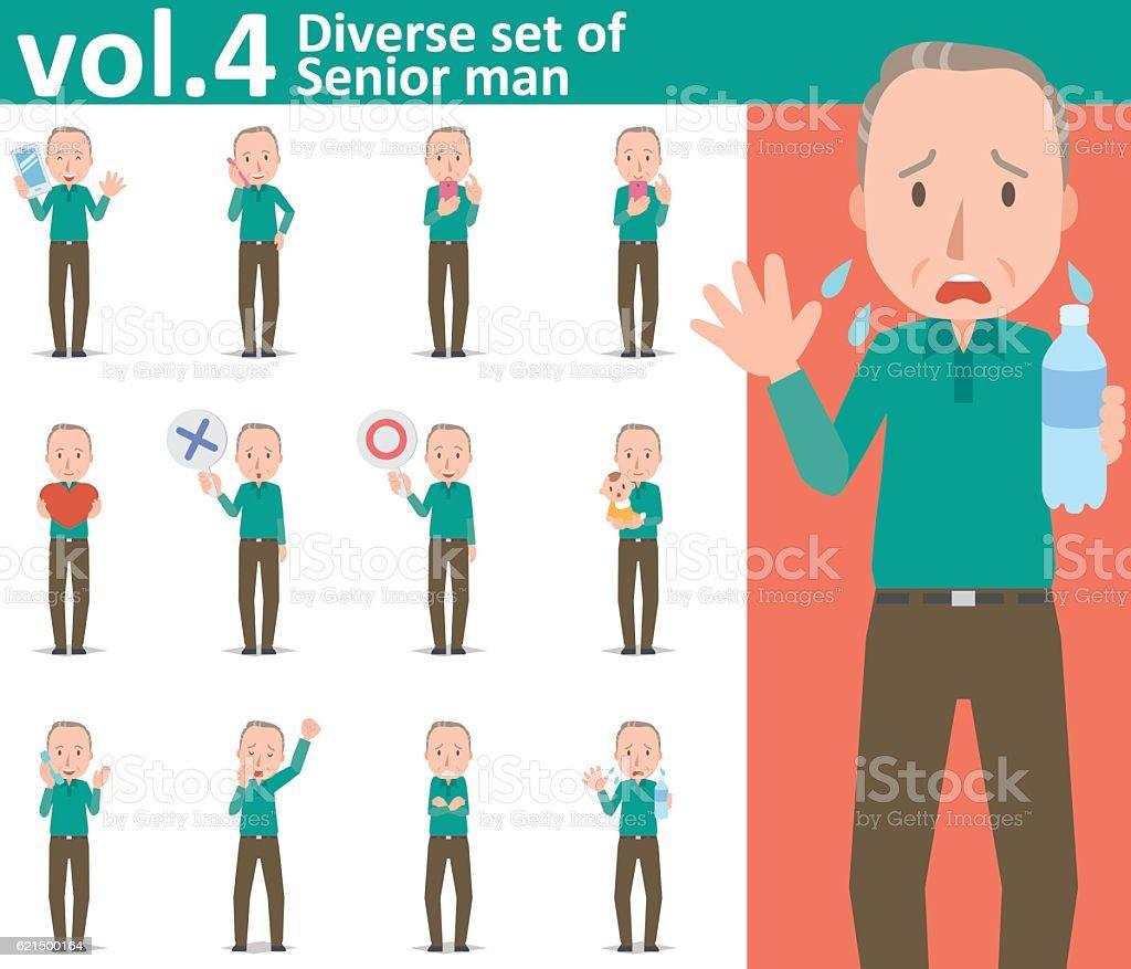 Diverse set of Senior man , EPS10 vector format vol.4 diverse set of senior man eps10 vector format vol4 - immagini vettoriali stock e altre immagini di adulto royalty-free