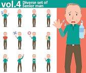 Diverse set of Senior man , EPS10 vector format vol.4