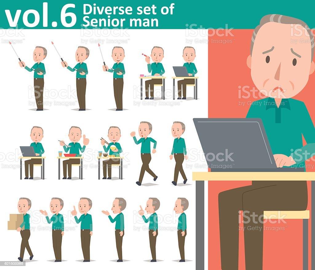 Diverse set of Senior man  , EPS10 vector format vol.6 diverse set of senior man eps10 vector format vol6 - immagini vettoriali stock e altre immagini di adulto royalty-free