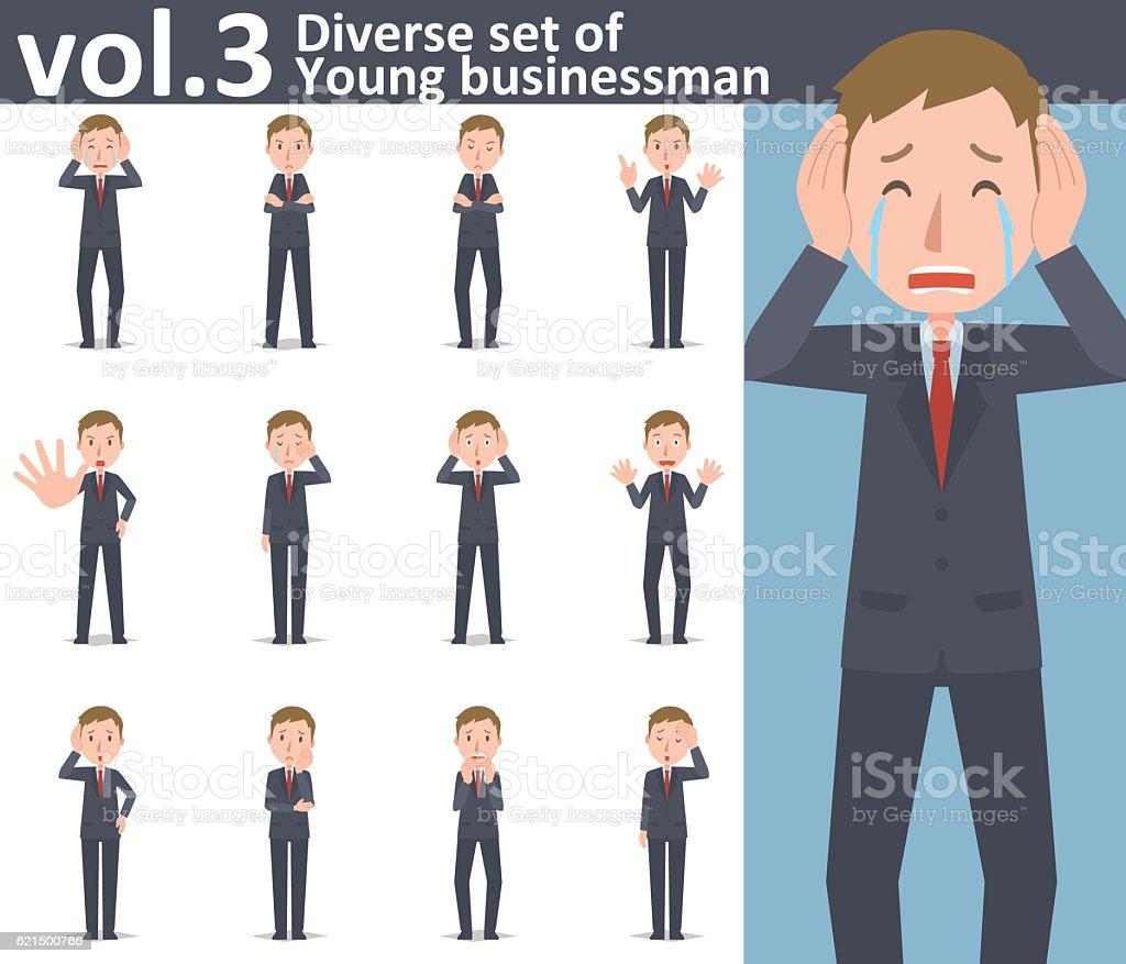Diverse set of young businessman  , EPS10 vector format vol.3 diverse set of young businessman eps10 vector format vol3 - immagini vettoriali stock e altre immagini di adulto royalty-free