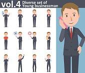 Diverse set of young businessman  , EPS10 vector format vol.4