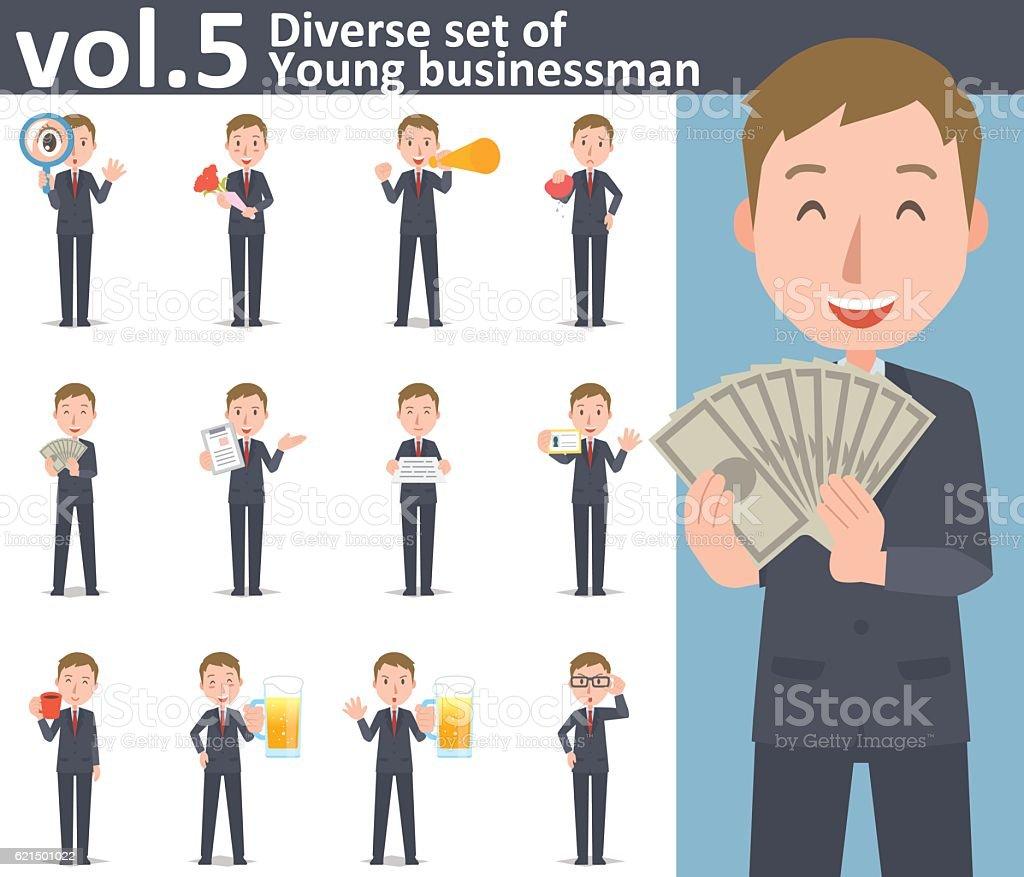 Diverse set of young businessman  , EPS10 vector format vol.5 diverse set of young businessman eps10 vector format vol5 - immagini vettoriali stock e altre immagini di adulto royalty-free