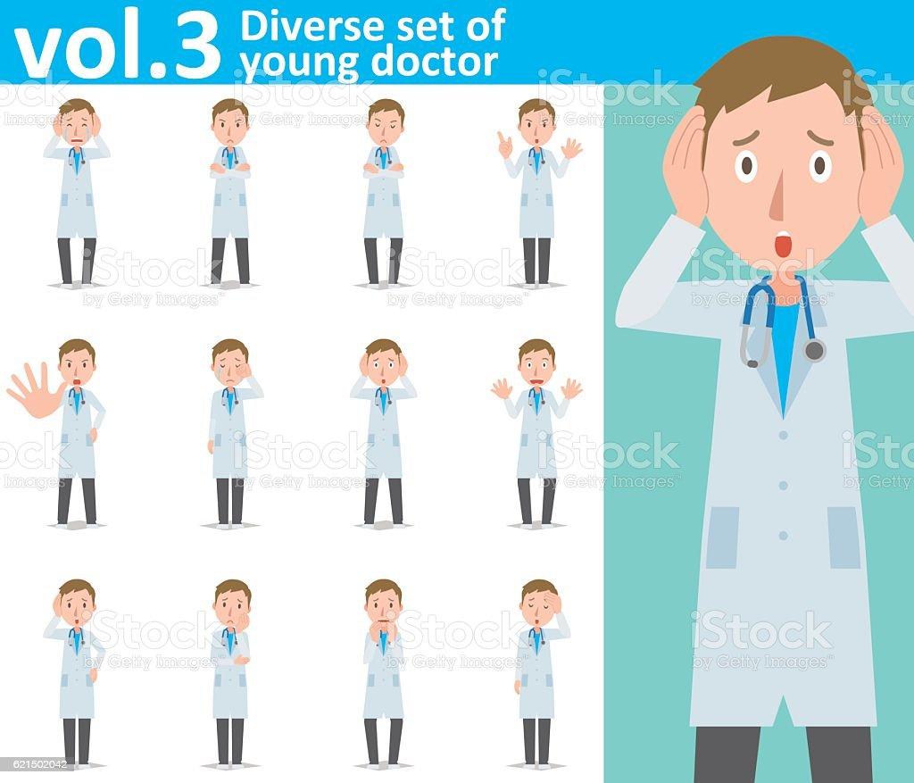Diverse set of young doctor  , EPS10 vector format vol.3 Lizenzfreies diverse set of young doctor eps10 vector format vol3 stock vektor art und mehr bilder von arzt