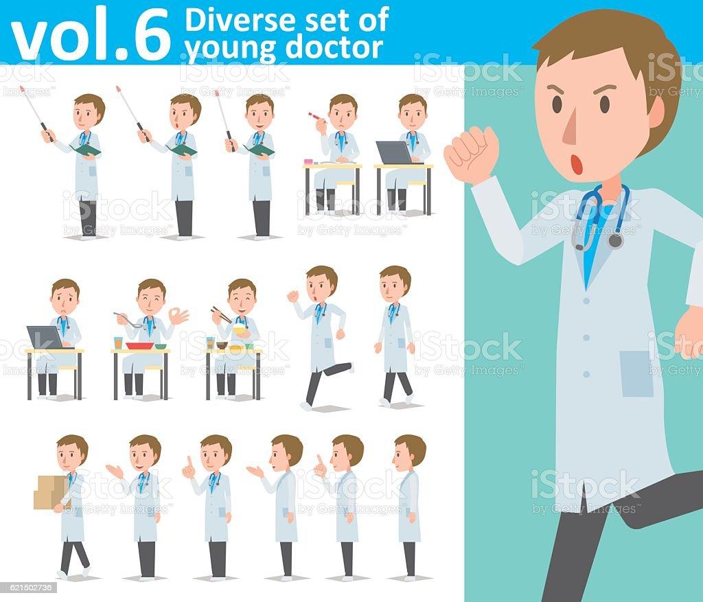 Diverse set of young doctor  , EPS10 vector format vol.6 diverse set of young doctor eps10 vector format vol6 – cliparts vectoriels et plus d'images de adulte libre de droits