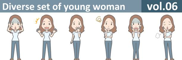 Diverse set of young woman, EPS10 vol.06 vector art illustration