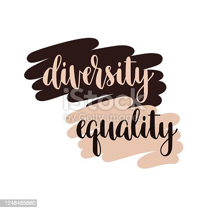 Diversity and Equality typography