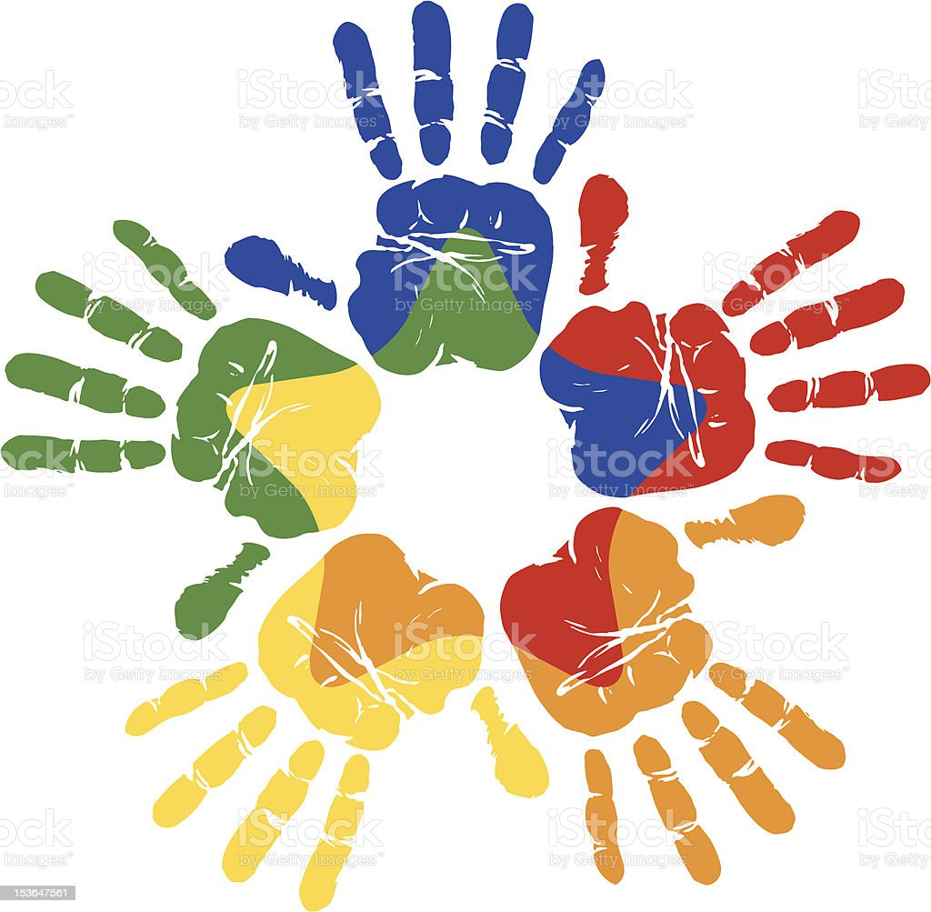 Diversity Hands royalty-free diversity hands stock vector art & more images of clip art