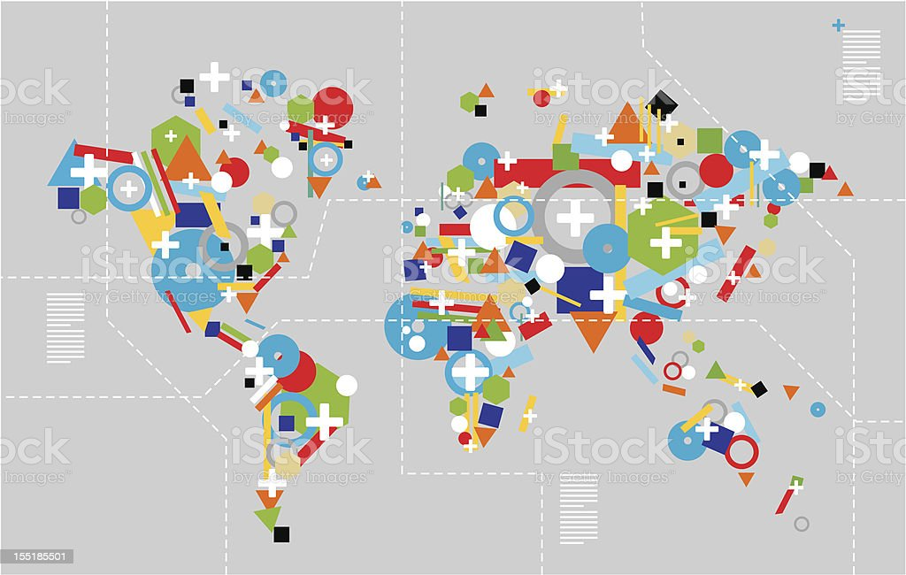 Diversity in technology concept world map stock vector art more diversity in technology concept world map royalty free diversity in technology concept world map stock gumiabroncs Images