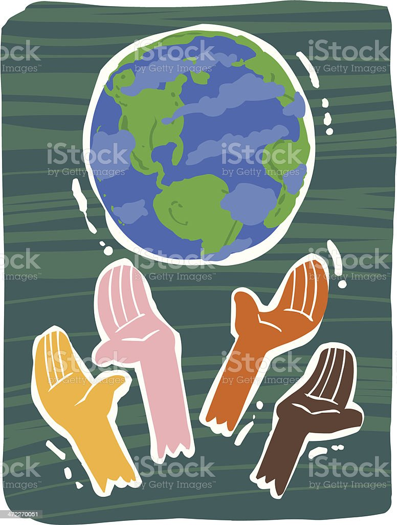 Diversity / Peace on Earth royalty-free diversity peace on earth stock vector art & more images of 1960