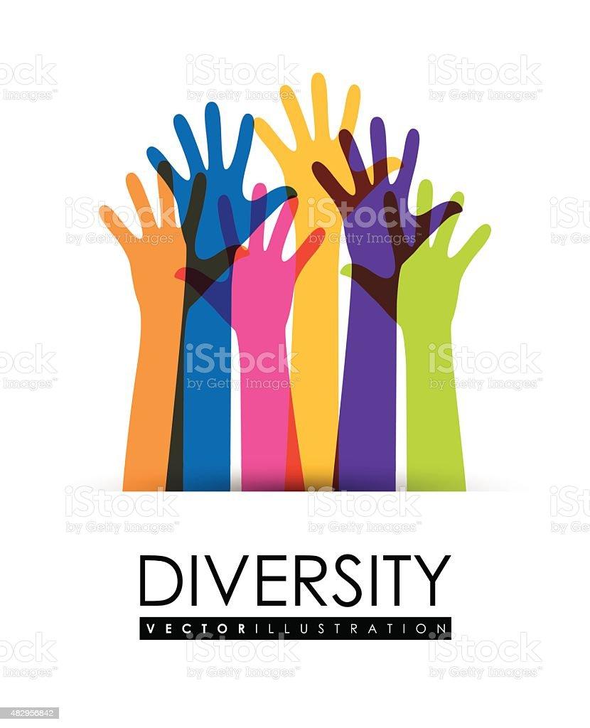 Diversity people design, vector illustration eps 10. vector art illustration
