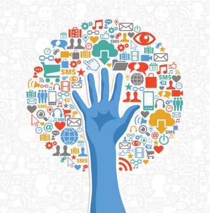 Diversity social media hand tree