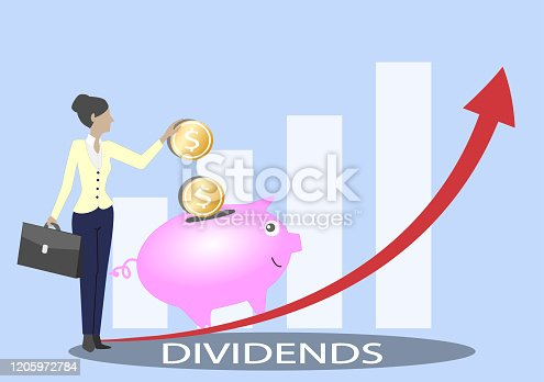 Dividends Investment Business Graph.