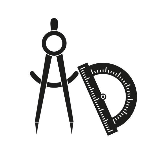 分度器 イラスト素材 - iStock
