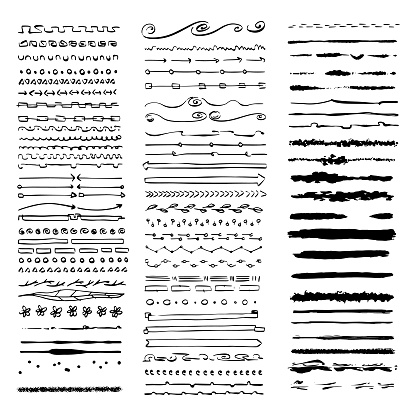 Dividers and banners ink drawings collection