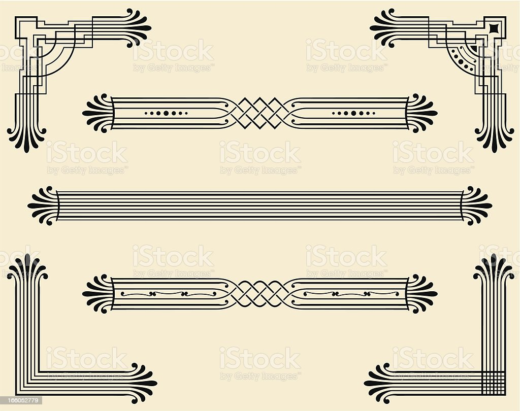 Dividers and Corners royalty-free stock vector art