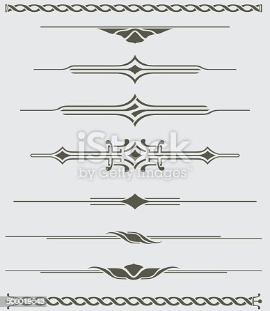 An a Vector Illustration of the Decorative Dividers