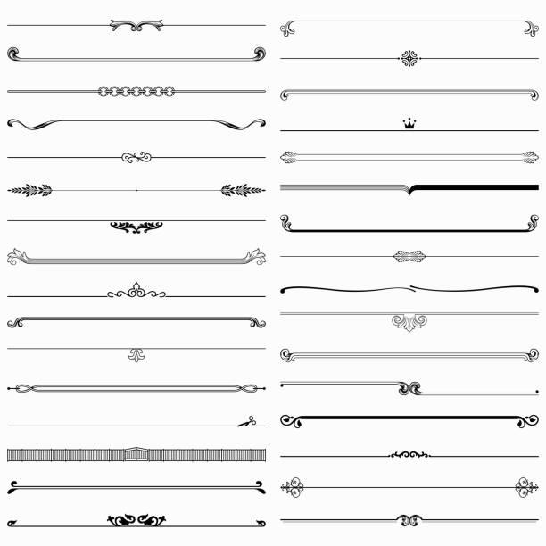elementy konstrukcyjne dzielników - ozdobny stock illustrations