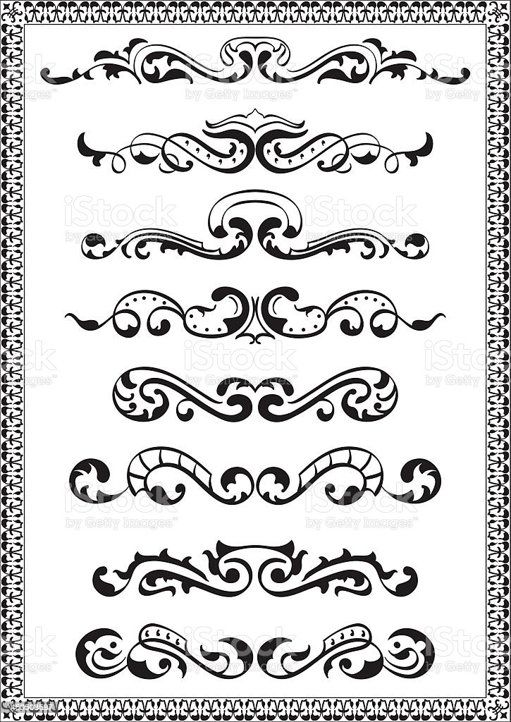 Dividers lines for design royalty-free stock vector art