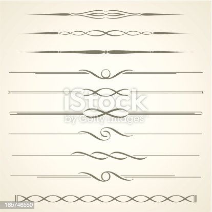 An a Vector Illustration of Decorative Dividers