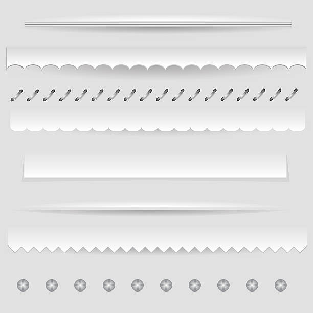 dividers colorful illustration with  set of dividers on a gray background for your design zigzag stock illustrations