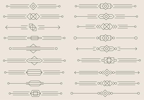 Dividers vector set