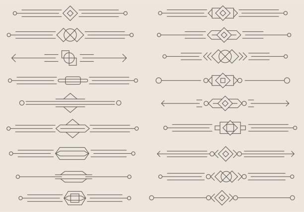 illustrazioni stock, clip art, cartoni animati e icone di tendenza di dividers vector set - separazione