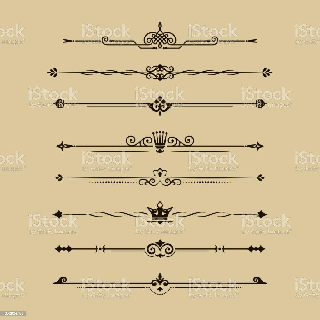 Dividing lines set vector art illustration