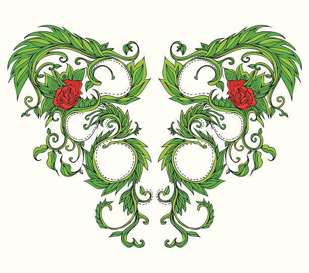 Divine Floral vector art illustration