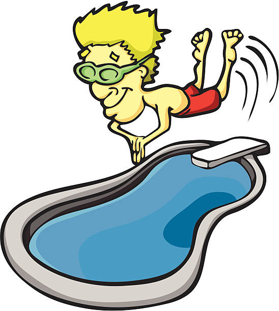 Diving Board Clip Art, Vector Images & Illustrations - iStock
