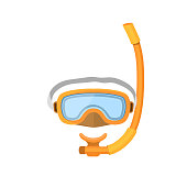 Diving mask isolated on white background.
