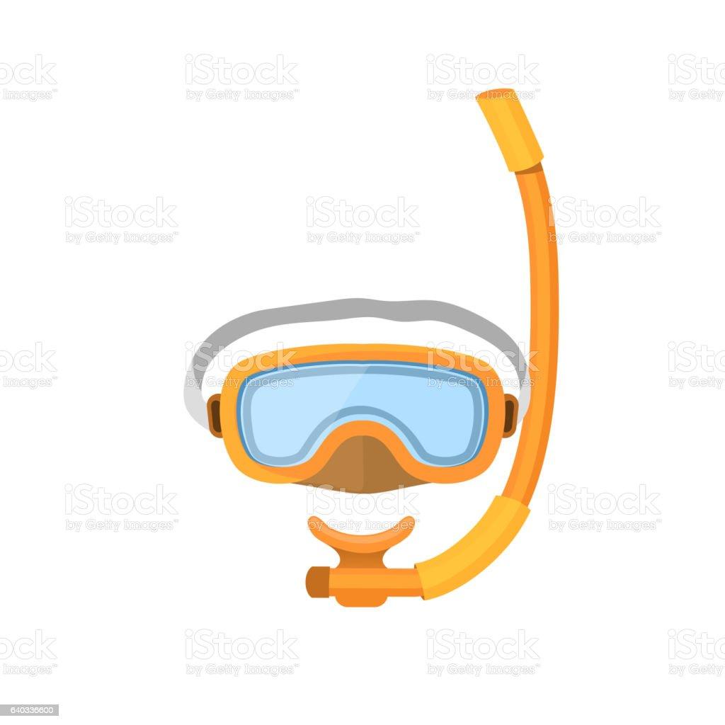 Diving mask isolated on white background. vector art illustration