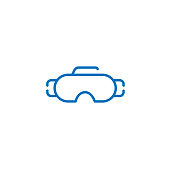 diving snorkeling goggles icon Logo illustration. Summer Icons Set Outline Holiday, Tour and travel outline icon set vector. Simple Modern graphic flat design design concepts.