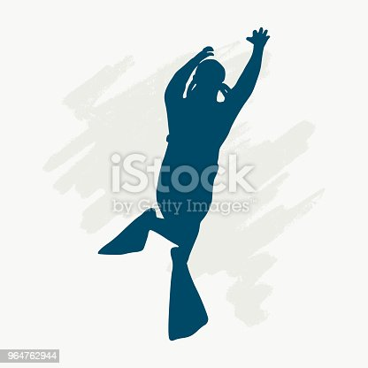 Diving Sport Concept Stock Vector Art & More Images of Adult 964762944