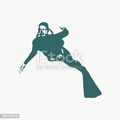 Diving Sport Concept Stock Vector Art & More Images of Adult 964763100